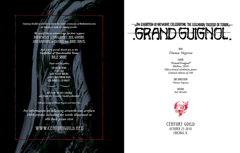 Grand Guignol Century Guild 2010 Exhibition Catalog