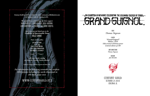 """Grand Guignol: An Exhibition Celebrating the Legendary Theater of Terror"" Exhibition Catalog"