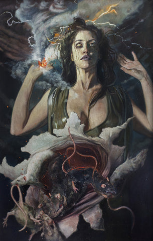 Gail Potocki WRATH The Seven Deadly Sins Fine Art Print