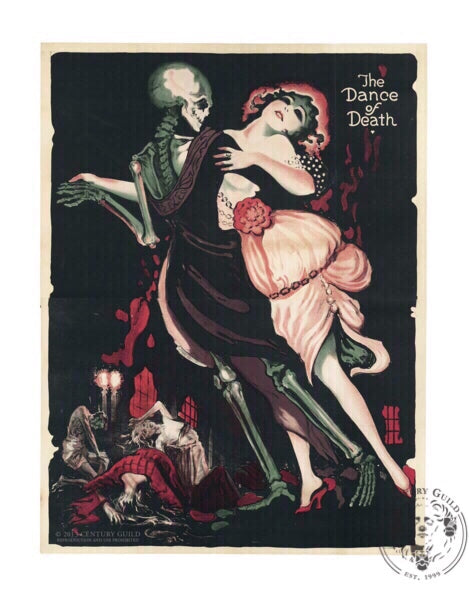 The Dance of Death Totentanz Fritz Lang Silent Film American Release Poster Century Guild Museum Archive