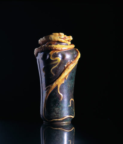 """Man Uplifted in the arms of Sleep"" Incense Burner, c. 1900"