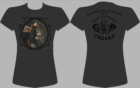 GAIL POTOCKI: FREAKS | Annie Jones the Bearded Lady: Men's and Women's Shirts