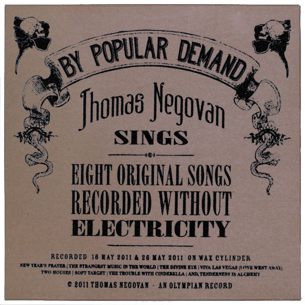 Thomas Negovan - By Popular Demand (Black Edition)