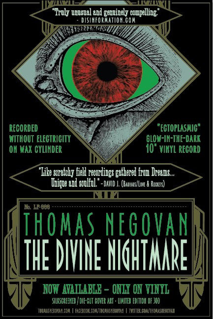 "Thomas Negovan ""The Divine Nightmare"" Glow-in-the-dark Silkscreen Record Release Poster"