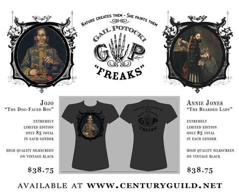 GAIL POTOCKI: FREAKS | Jo-Jo the Dog-Faced Boy: Men's and Women's Shirts