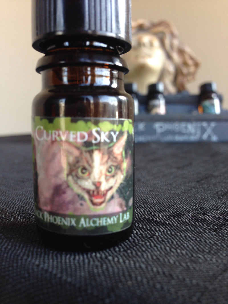 """Curved Sky"" LIMITED EDITION scented oil from Black Phoenix Alchemy Lab"