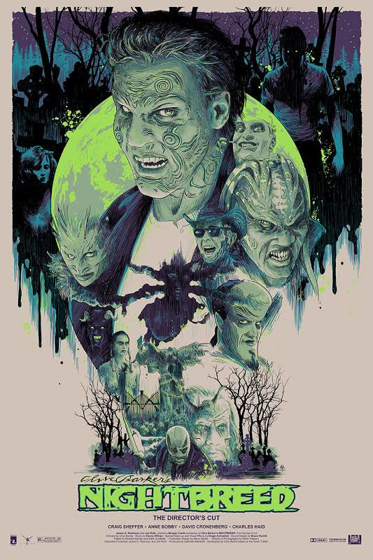 Nightbreed Poster [Glow In The Dark Variant] - Signed by Clive Barker and Vance Kelly