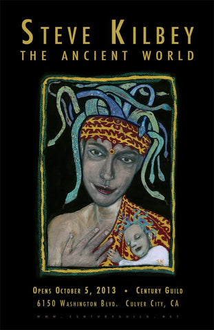 Steve Kilbey THE ANCIENT WORLD window card / Exhibition poster