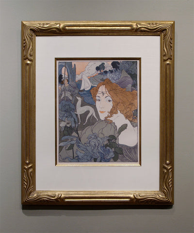 "Georges De Feure ""THE RETURN"" Lithograph, 1897"