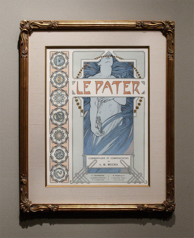 "Alphonse Mucha ""LE PATER"" Title Plate, 1899"