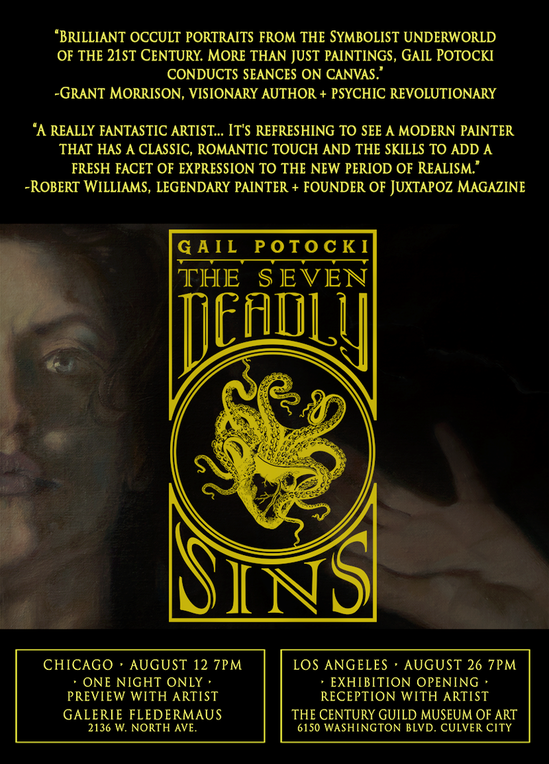 Gail Potocki The Seven Deadly Sins Exhibition Opens August 2017