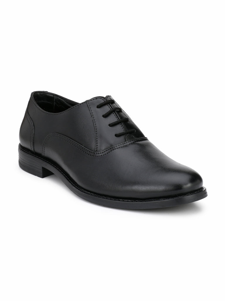 Black Oxford Shoes | Full Grain Leather | Saddle & Barnes