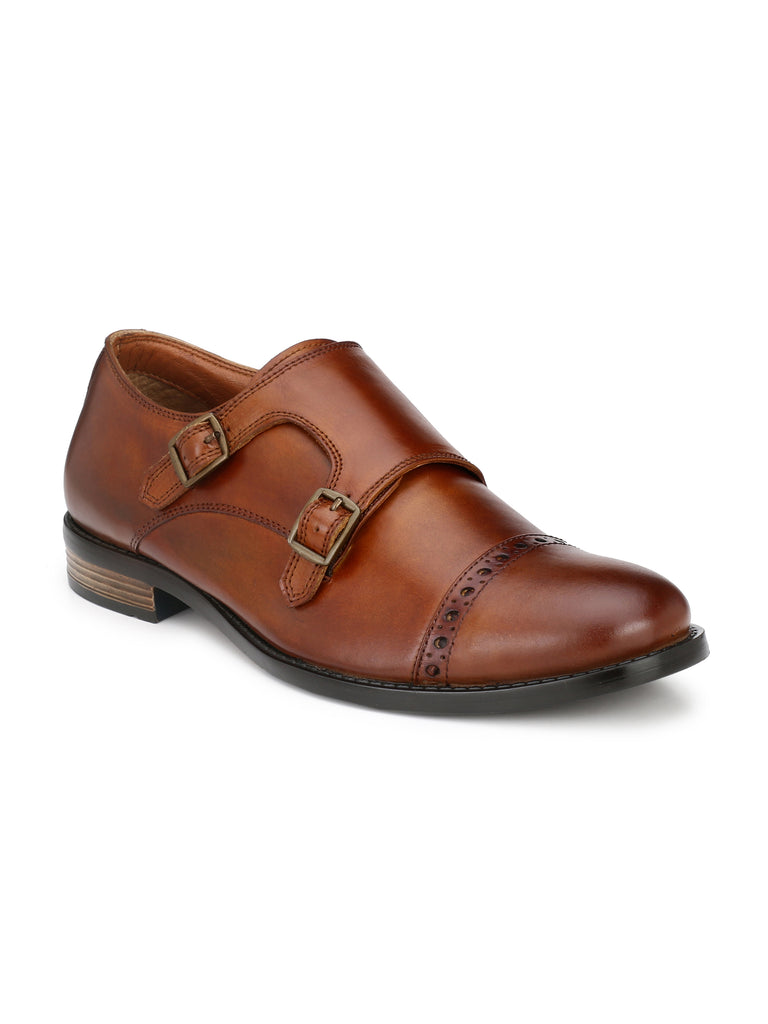 Tan Monk Strap Boots | Full Grain Leather | Saddle & Barnes