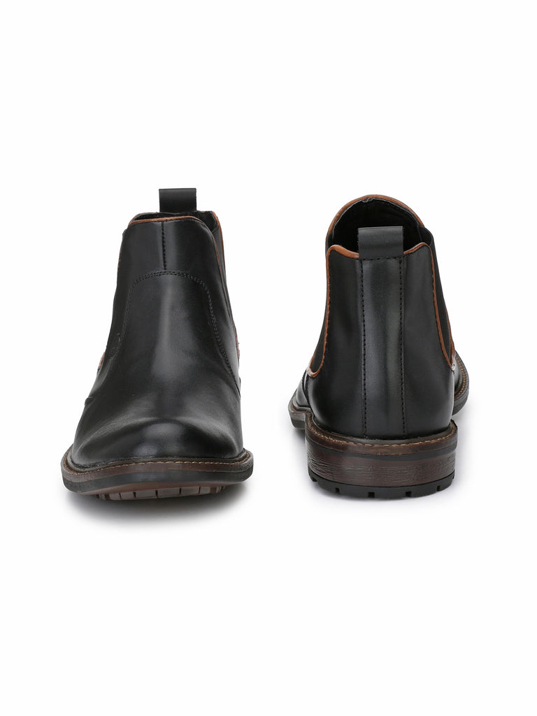 Black Chelsea Boots | Full Grain Leather | Saddle & Barnes