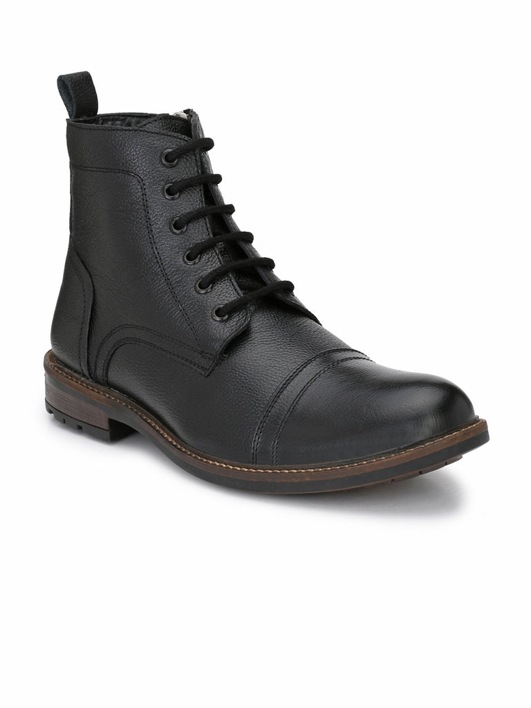 Black Leather Boots | Full Grain Leather | Saddle & Barnes