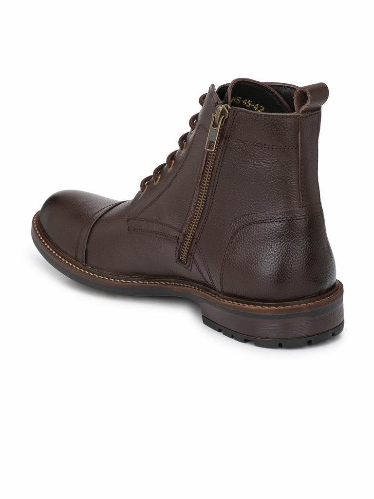 Brown Lace Up Ankle Boots | Full Grain Leather | Saddle & Barnes