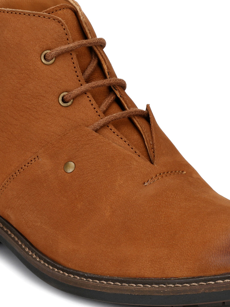 Tan Lace Up Ankle Boots | Full Grain Leather | Saddle & Barnes