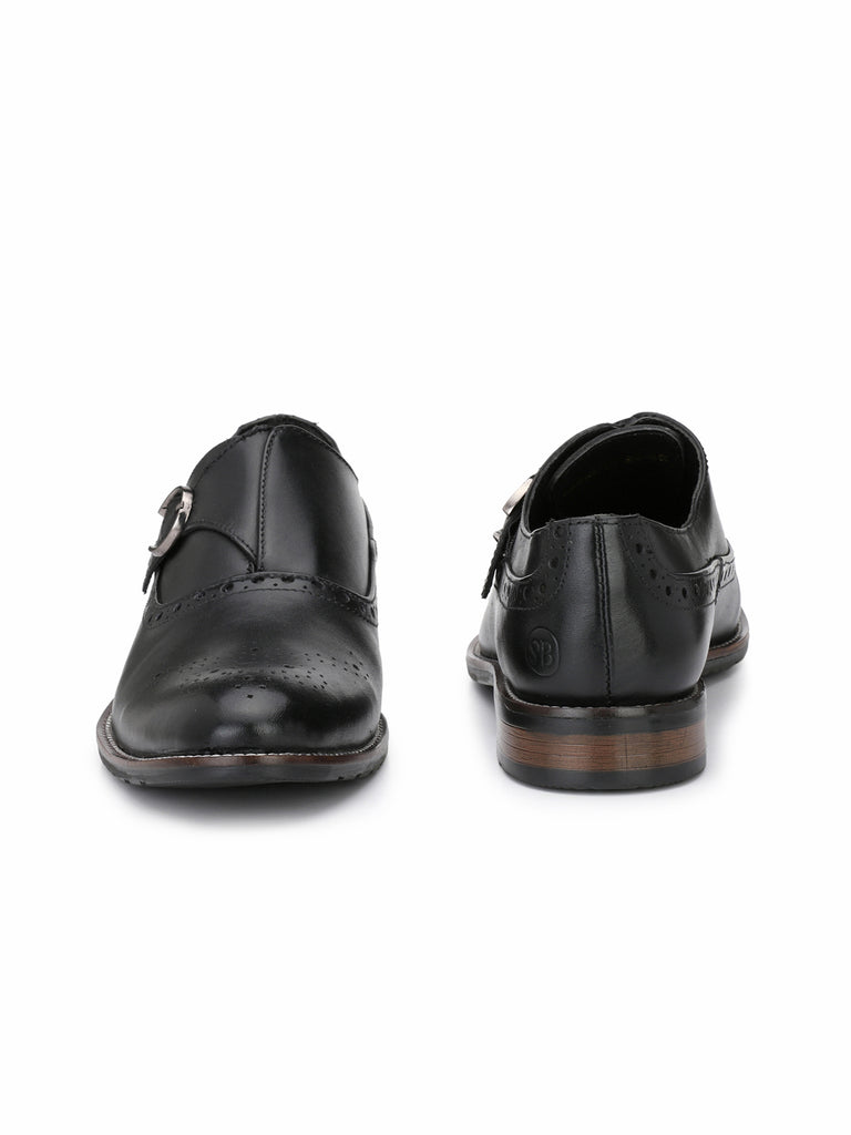 Black Buckled Brogues | Full Grain Leather | Saddle & Barnes