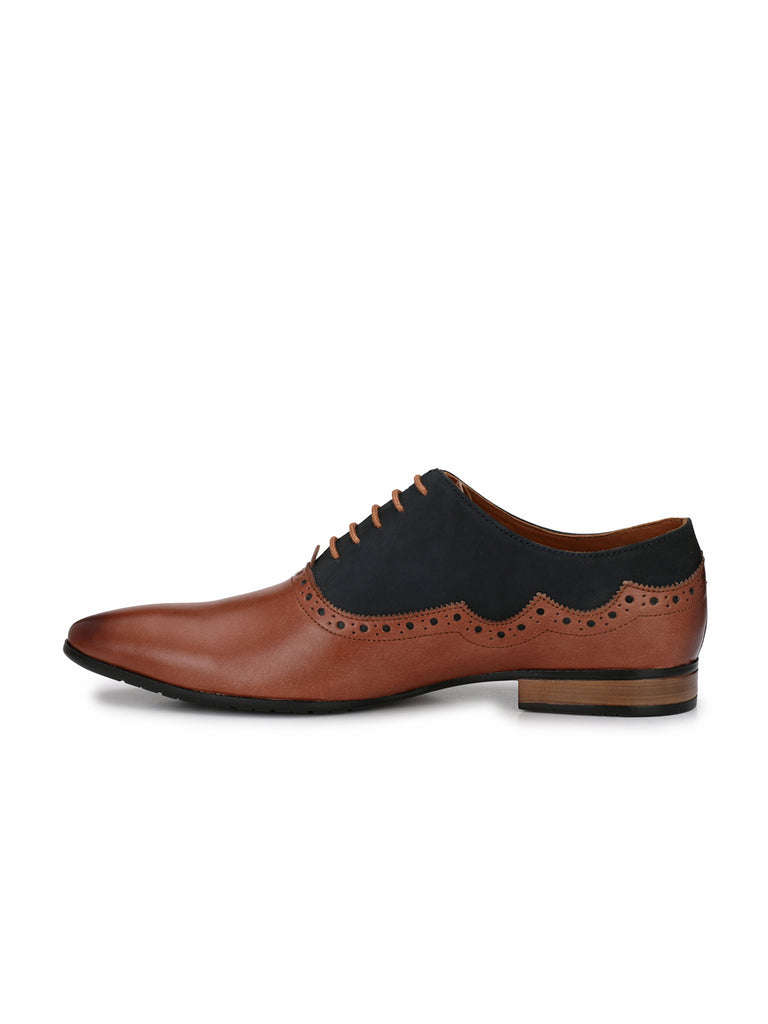 Tan Oxford Brogues | Full Grain Leather | Saddle & Barnes