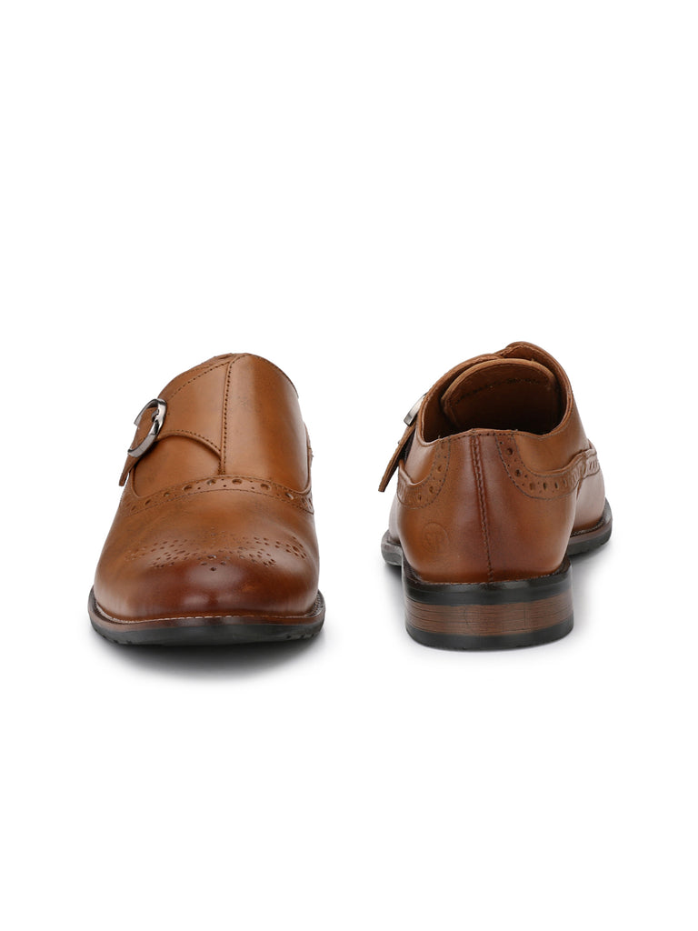 Tan Buckled Brogues | Full Grain Leather | Saddle & Barnes