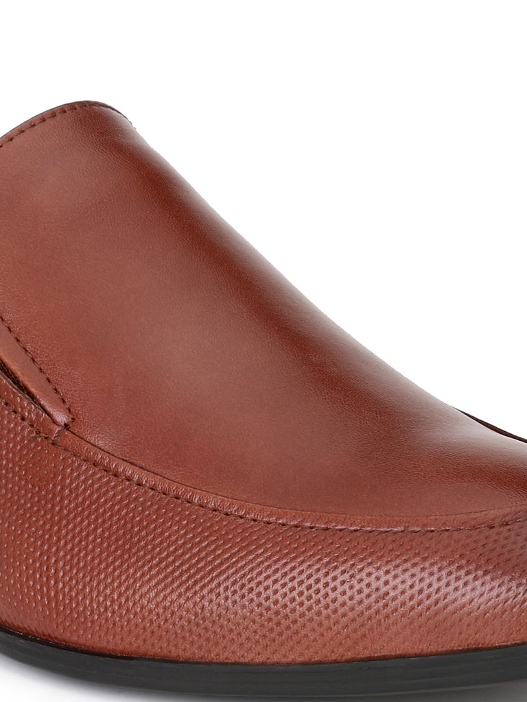 Brown Slip ons | Full Grain Leather | Saddle & Barnes