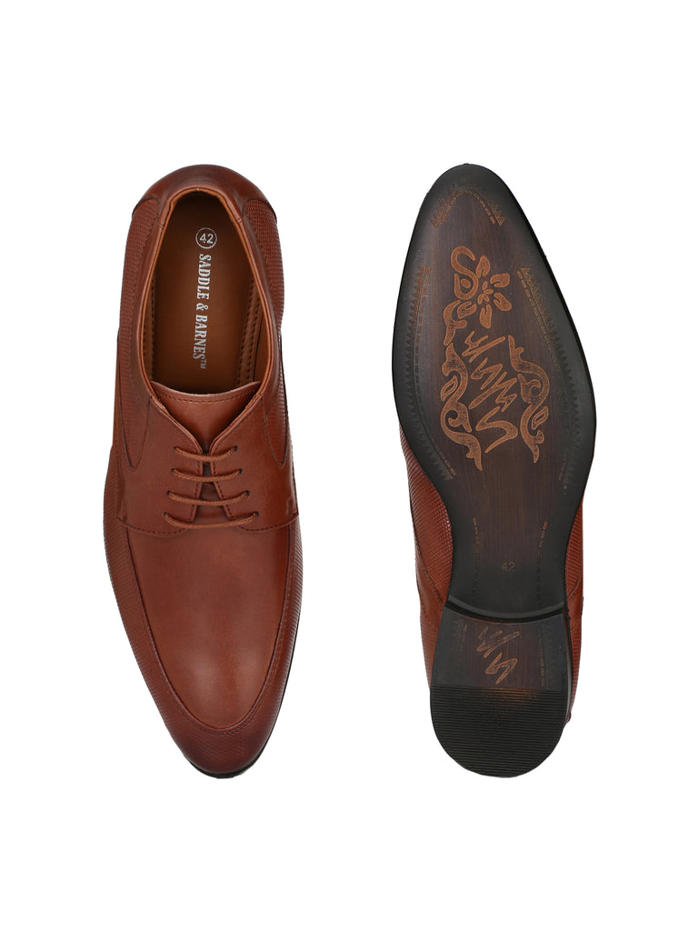 Tan Derbys | Full Grain Leather | Saddle & Barnes