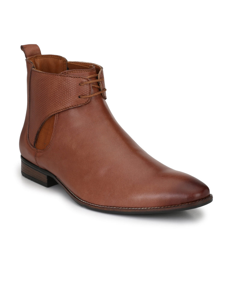 Tan Chukka Boots | Full Grain Leather | Saddle & Barnes