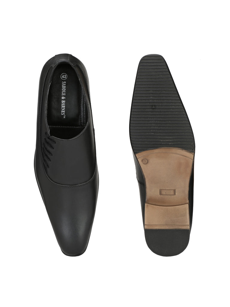 Black Slip Ons | Full Grain Leather | Saddle & Barnes