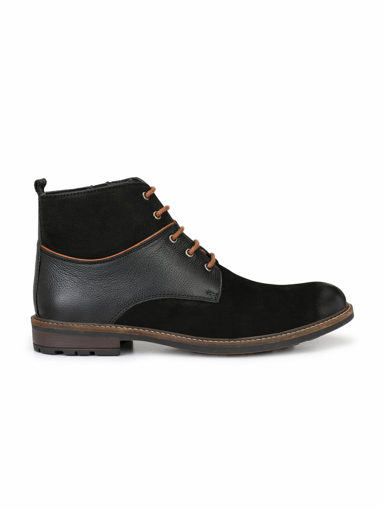 Black Lace Up Ankle Boots | Full Grain Leather | Saddle & Barnes