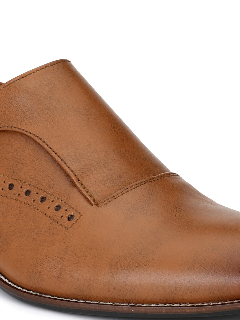 Tan Monk Shoes | Full Grain Leather | Saddle & Barnes