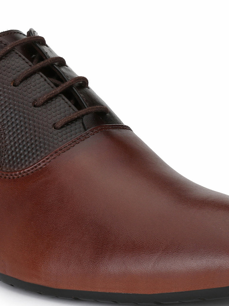 Tan-Brown Oxfords | Full Grain Leather | Saddle & Barnes