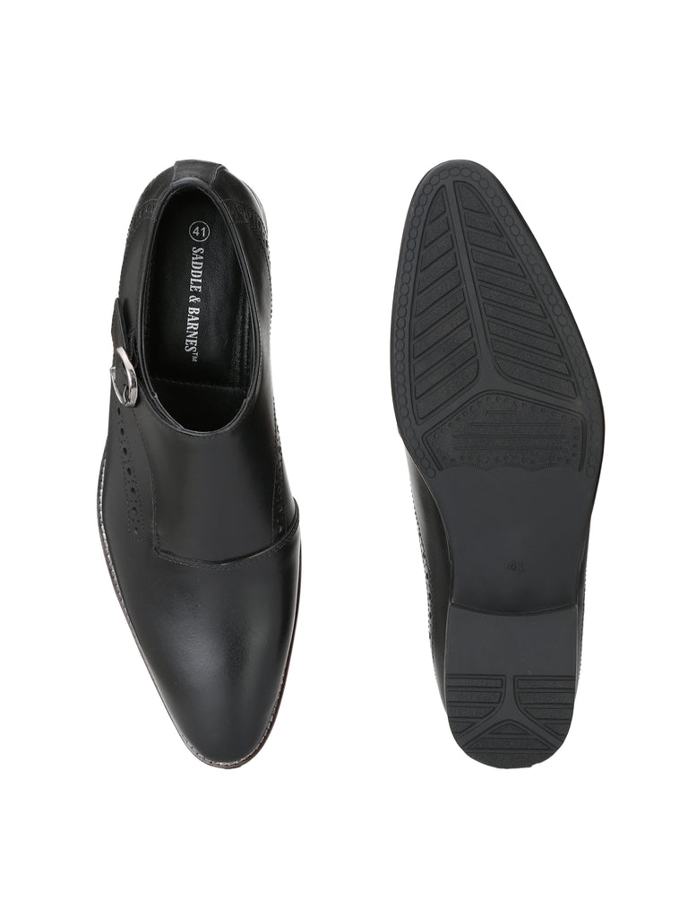 Black Monk Shoes | Full Grain Leather | Saddle & Barnes