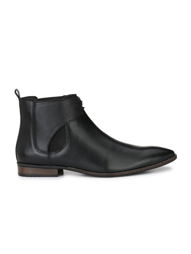 Black Chukka Boots | Full Grain Leather | Saddle & Barnes