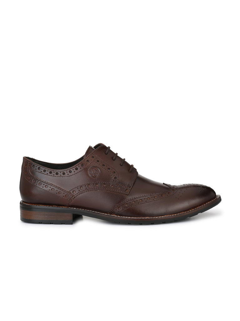 Brown Brogues | Full Grain Leather | Saddle & Barnes