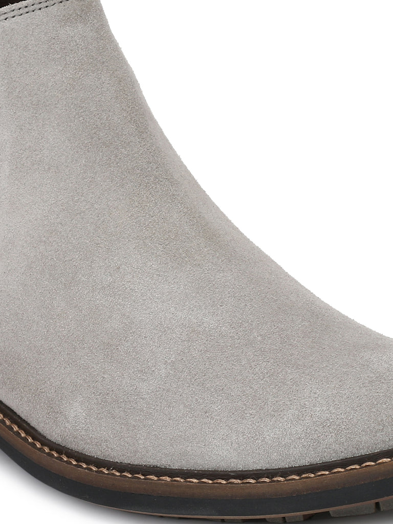 Grey Chelsea Boots | Full Grain Leather | Saddle & Barnes