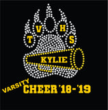 TVHS Bear Paw Cheer Decals