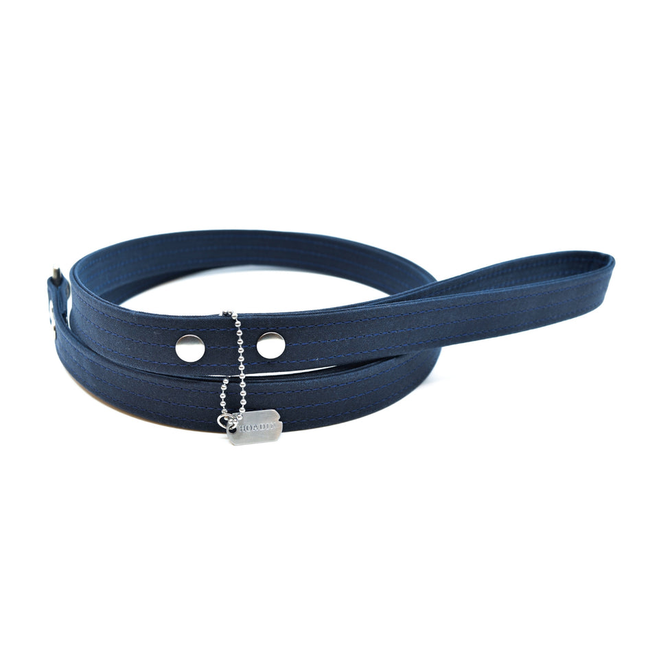 WAXED CANVAS LEASH: bleu nuit