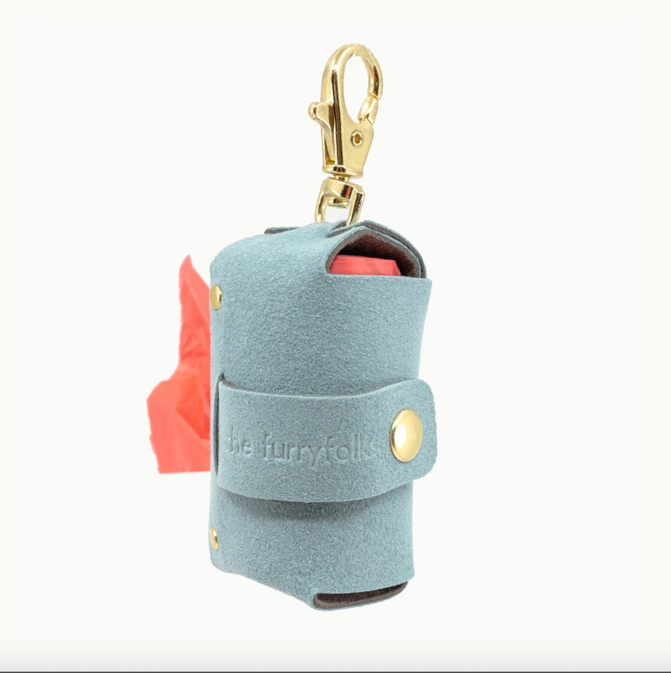 VEGAN SUEDE BAG HOLDER (powder blue)