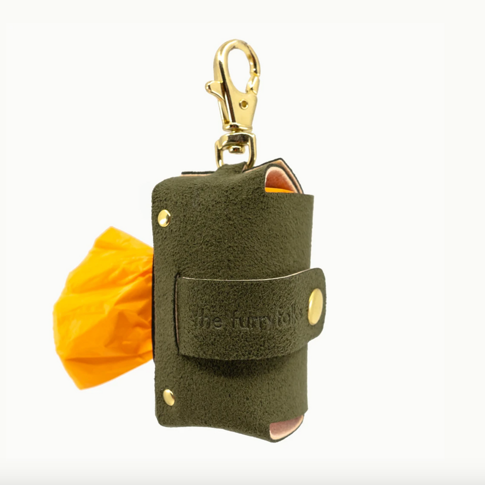 VEGAN SUEDE BAG HOLDER (olive green)