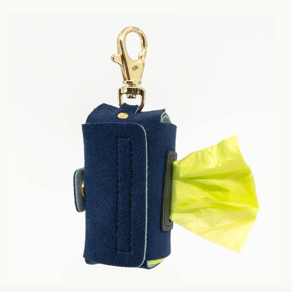 VEGAN SUEDE BAG HOLDER (marine blue)