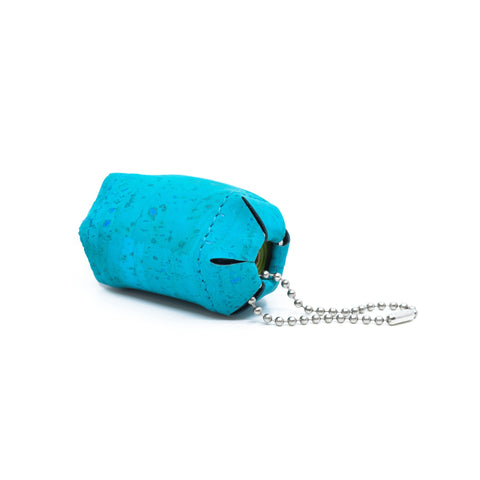 MERDE ARRIVE: bag holder (teal)
