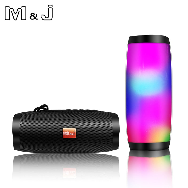 Colorful LED Lights Bluetooth Speaker HIFI Stereo Wireless Portable  Hands Free Support TF FM USB Flash Subwoffer