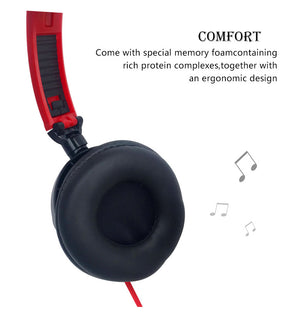 Headphones with Mic Earphones 3.5mm AUX Foldable Portable Gaming Headset For Phones MP4 Computer PC Music