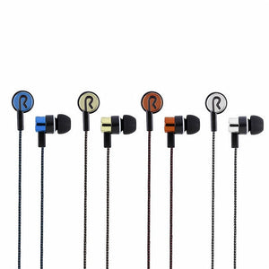 5 Colors Sports Running Noise Isolating Stereo 1.1M in-Ear 3.5mm Headphones