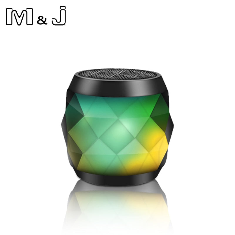Bluetooth Speaker Column LED Mini Wireless Waterproof Portable Music Loudspeakers