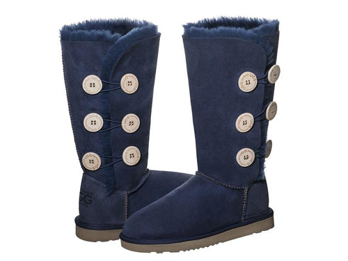 CLASSIC BUTTON TALL ugg boots. Made in Australia. Buy now pay later with Afterpay.