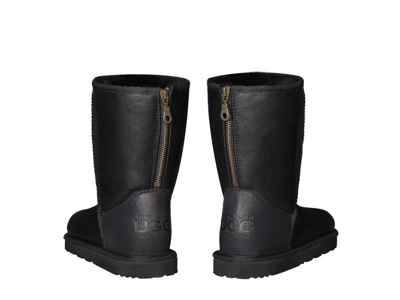 NAPPA SHORT ZIPPER ugg boots. Made in Australia. Buy now pay later with Afterpay.