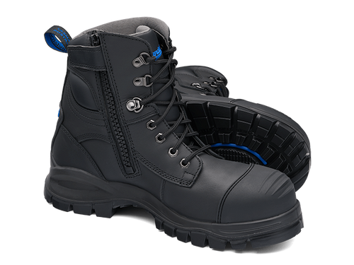 BLUNDSTONE 997 Leather Work Boots Black. FREE Shipping. Afterpay.
