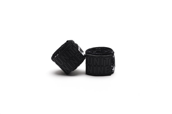 UNIT NINE Black python hand wraps