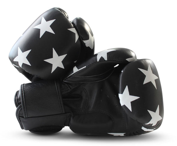 UNIT NINE Black Shooting Stars Boxing Gloves